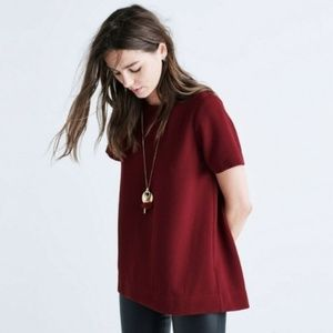 Madewell Maroon Crepe Hi Low Top